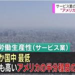 【悲報】日本のサービス業は労働生産性がアメリカの半分!?