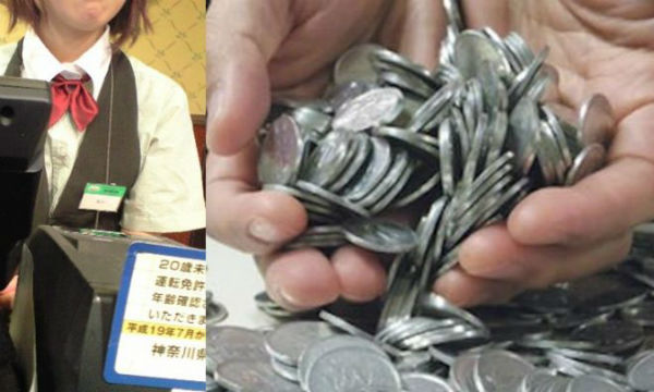 【いたずらに神対応】ファミレスで全て1円玉で払ってきた高校生に対し、店員がとった行動とは…