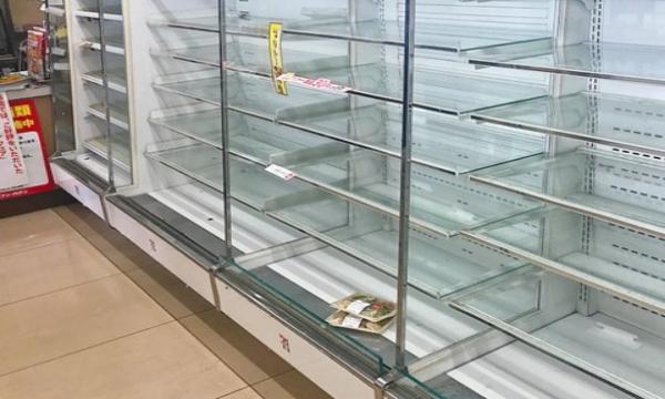 大阪地震でスーパーが悲鳴!?東京の時より酷いかも…
