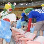 ワールドカップの試合後に日本人サポがゴミ拾い!!その理由が…