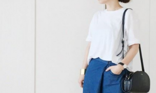 女子 白Tシャツコーデ
