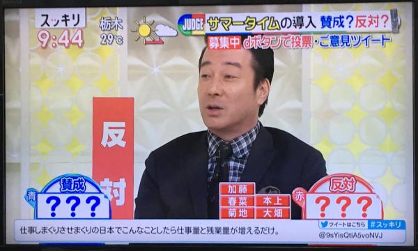 加藤浩次がサマータイムに物申した!!賛同する視聴者が続出