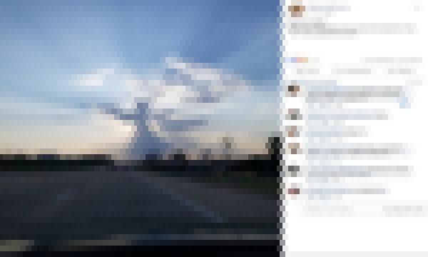 【画像】米テキサス州の空に天使が出現!?これマジか・・・