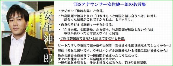 TBS安住紳一郎異例の大出世!フリーにならないの?