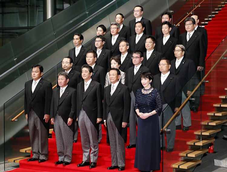 安倍内閣改造。憲法改正へのファイナルフォーメーション完成。